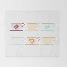 Teacups Throw Blanket