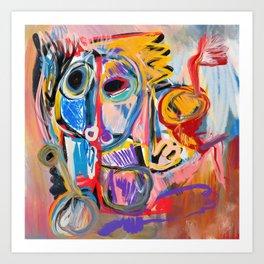 Mythologic King Graffiti Neo Expressionism Art  Art Print