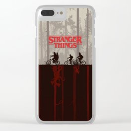 A little too strange Clear iPhone Case