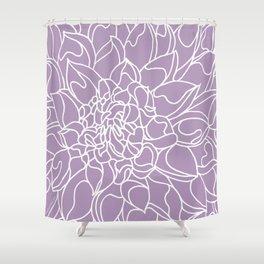 Chrysanthemum Lavender Collection Shower Curtain