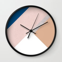 Winter Geometry Wall Clock