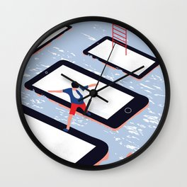 HERE WE ARE Wall Clock