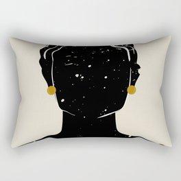 Black Hair No. 5 Rectangular Pillow