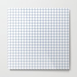 Decorative Pastel Blue and White Pattern Metal Print