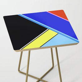 Happy Hues Modern Colorblock Pattern - Black Side Table