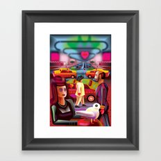 Taxi Stand Framed Art Print