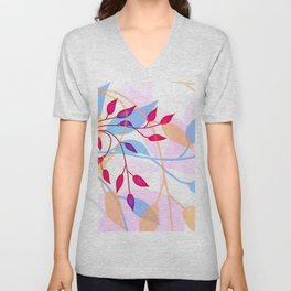 bright Flood of Leafs Unisex V-Neck