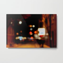 Bubbles of Light in the Night, B Metal Print