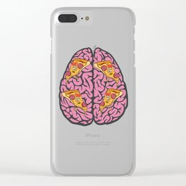 Problem Solving or Brainstorming Tshirt Design Left and right brain ideas Clear iPhone Case