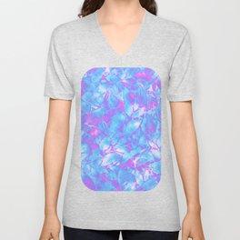 Grunge Art Floral Abstract G171 Unisex V-Neck