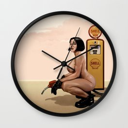 GASOLINE GAL Wall Clock