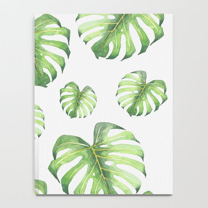 Watercolor monstera pattern Notebook