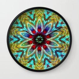 Gemstones Mandala Kaleidoscope Wall Clock