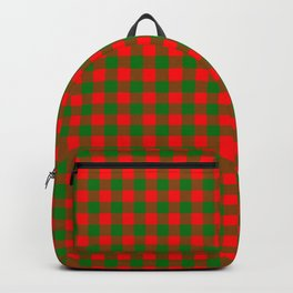 Red and Green Christmas Gingham Tartan Backpack