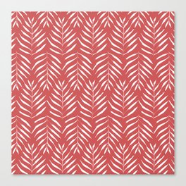 Palm trees in red Canvas Print
