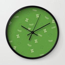 Gemini Pattern - Green Wall Clock