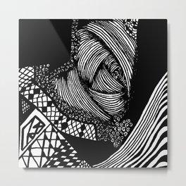 Zentangle #20 Metal Print