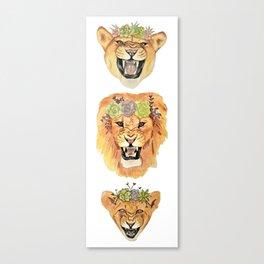Lion Family (Vertical) Canvas Print