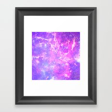 Pink Galaxy Framed Art Print