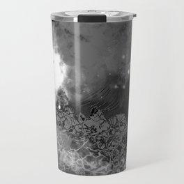 """The Crystal Forest"" (Black & White) Digital Painting // Fine Art Print Travel Mug"