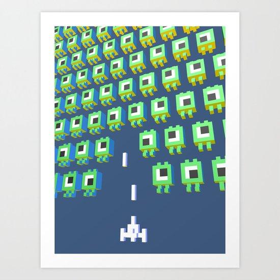 Alien massacre Art Print