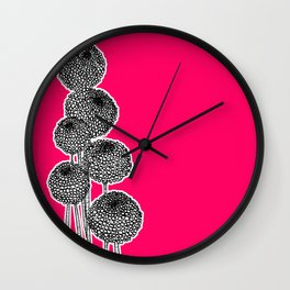 Rounded Flower Wall Clock