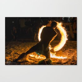 Spinning Fire Canvas Print