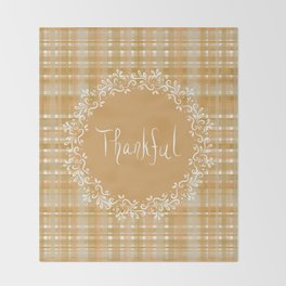 Autumn Weave Thankful Throw Blanket