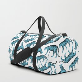 Tigers (White and Blue) Duffle Bag