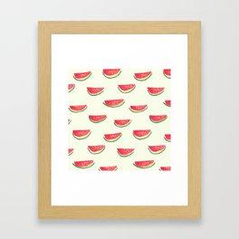 Watercolor Watermelon Framed Art Print