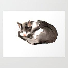 Cat, Sleeping Beauty, Cat design, Cat lover Art Print