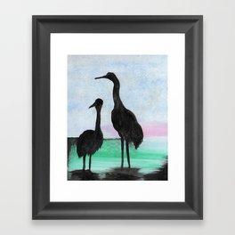 Herons on the Bay Framed Art Print