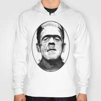 frankenstein Hoodies featuring Frankenstein by Zombie Rust