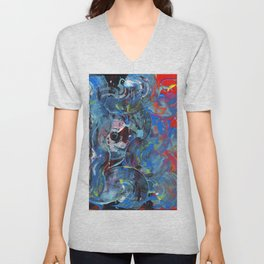Abstract Feelings of Hope and Despair Unisex V-Neck