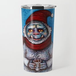 Holiday Abominable Snowman Yeti Travel Mug