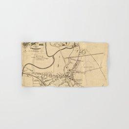 Vintage Battle of Concord Map (1875) Hand & Bath Towel