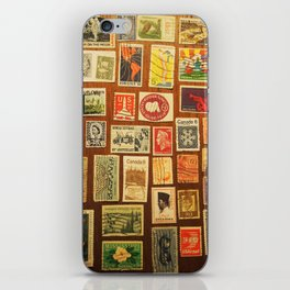 stamps iPhone Skin