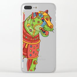 Jaguar, cool wall art for kids and adults alike Clear iPhone Case