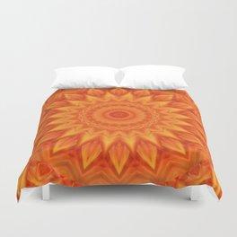 Mandala orange Power Duvet Cover