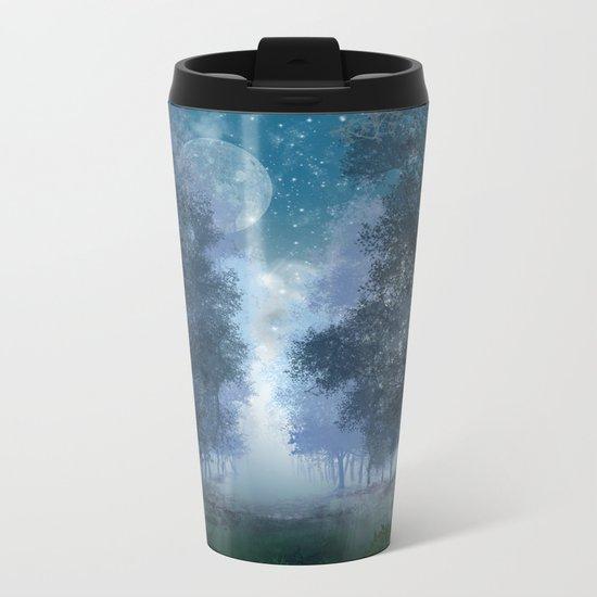 blue forest Metal Travel Mug