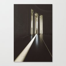 Sunbeams at the Jefferson Memorial in Washington DC Canvas Print