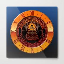 Eye of Providence clock Metal Print
