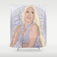 versace Shower Curtains featuring Versace Queen by AdamAether