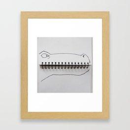 Cuadernosaurus Framed Art Print