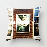 posters Throw Pillows featuring Amsterdam Posters by Cristhian Arias-Romero