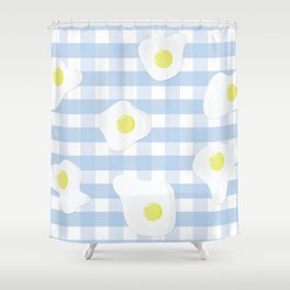 Sunny Side Up + Gingham Shower Curtain