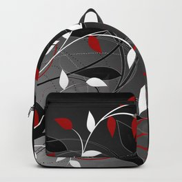 Nature in black, white and red. Backpack