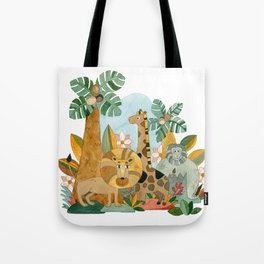 African Animals in the Jungle Tote Bag