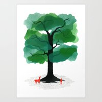 Man & Nature - The Tree of Life Art Print