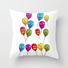 balloons terrible shari halloween Throw Pillow